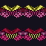 Naadloos abstract geometrisch patroon De vormen van zeshoeken Textuurstrepen, controles, punten Royalty-vrije Stock Foto