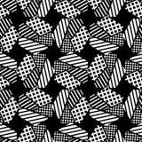 Naadloos abstract geometrisch patroon De vormen van zeshoeken Textuurstrepen, controles, punten Royalty-vrije Stock Fotografie