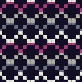 Naadloos abstract geometrisch patroon Het patroon van pixel De textuur van het mozaïek brushwork Hand het uitbroeden Gekrabbeltex stock illustratie