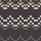 Naadloos abstract geometrisch patroon Het patroon van pixel De textuur van het mozaïek brushwork Hand het uitbroeden Gekrabbeltex vector illustratie