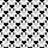 Naadloos abstract geometrisch patroon Het patroon van pixel De textuur van het mozaïek brushwork Hand het uitbroeden Gekrabbeltex royalty-vrije illustratie