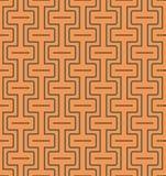 Naadloos abstract geometrisch patroon met lijnen en rechthoeken - vectoreps8 Stock Foto's