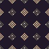 Naadloos abstract geometrisch patroon pixel De textuur van het mozaïek brushwork Hand het uitbroeden stock illustratie