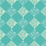Naadloos abstract geometrisch patroon pixel De textuur van het mozaïek brushwork Hand het uitbroeden royalty-vrije illustratie