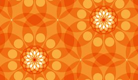 Naadloos abstract geometrisch vectorpatroon met cirkels Stock Foto