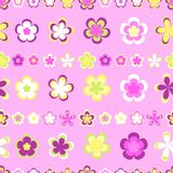 Naadloos abstract gestreept patroon van leuke roze en bruine geometrisch stock illustratie
