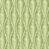 Naadloos abstract groen patroon van bladeren Royalty-vrije Stock Afbeelding