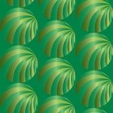 Naadloos abstract groen patroon Visueel Volumeeffect Geschikt voor textiel, stof en verpakking Royalty-vrije Stock Foto
