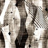 Naadloos abstract grunge geometrisch patroon stock illustratie