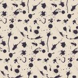 Naadloos abstract grunge vector naadloos patroon Artistieke plonsvlekken De vlekkeninkt bevlekt onordelijke achtergrond royalty-vrije illustratie