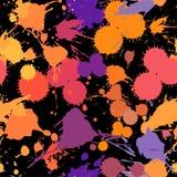 Naadloos abstract grunge vector naadloos patroon Kleurrijke artistieke plonsvlekken De vlekkeninkt bevlekt achtergrond royalty-vrije illustratie