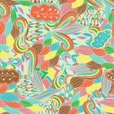 Naadloos abstract hand-drawn golvenpatroon, golvende achtergrond Het naadloze patroon kan voor behang worden gebruikt, vult het p Royalty-vrije Illustratie