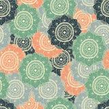 Naadloos abstract hand-drawn oosters doddlepatroon, pastelkleur Vector Illustratie