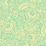 Naadloos abstract hand-drawn patroon Stock Foto's