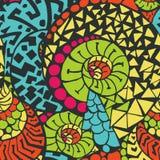 Naadloos abstract hand-drawn patroon Stock Afbeeldingen