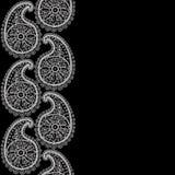 Naadloos abstract hand-drawn patroon, bloemenkant  Royalty-vrije Stock Afbeeldingen