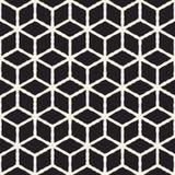 Naadloos abstract hand getrokken patroon Vectorlijnentextuur als achtergrond uit de vrije hand De inktborstel strijkt geometrisch Royalty-vrije Stock Afbeelding