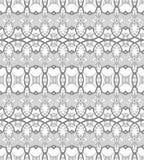 Naadloos Abstract Hand Getrokken Vectorpatroon Stock Foto
