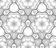 Naadloos Abstract Hand Getrokken Vectorpatroon Royalty-vrije Stock Fotografie