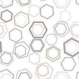Naadloos abstract hexagon geometrisch patroon, kleurrijk & artistiek voor grafisch ontwerp Creatief, decoratie, stijl & achtergro stock illustratie