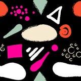 Naadloos abstract modern vormenpatroon Royalty-vrije Stock Afbeeldingen