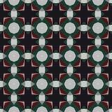 Naadloos abstract mozaïekpatroon Stock Afbeelding