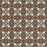 Naadloos abstract mozaïekpatroon Stock Foto