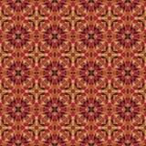 Naadloos abstract mozaïekpatroon met warme kleuren Royalty-vrije Stock Afbeelding