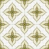 Naadloos abstract patroon Groene bloemen op een beige achtergrond Royalty-vrije Stock Foto