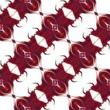 Naadloos abstract patroon met gestileerde harten royalty-vrije illustratie
