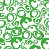 Naadloos abstract patroon met overzeese golven Vector illustratie stock illustratie