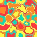 Naadloos abstract patroon met plonsen van verf royalty-vrije illustratie