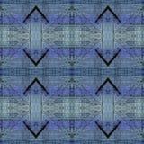 Naadloos Abstract Patroon met Purple en Teal Stripes Royalty-vrije Illustratie