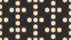 Naadloos Abstract Patroon met Zwart-witte Geometrische Vormen Stock Afbeelding