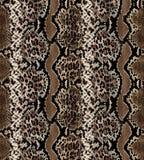 Naadloos abstract patroon op een huidtextuur, slang stock afbeelding