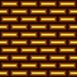 Naadloos abstract patroon van gele rectangless Stock Afbeelding