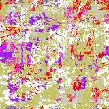 Naadloos abstract patroon van multicolored vlekken en lijnen stock illustratie
