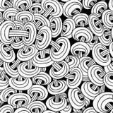 Naadloos abstract patroon van verweven kettingen vector illustratie