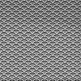 Naadloos abstract retro geometrisch patroon Cirkelelementen in geometrische rijen royalty-vrije illustratie