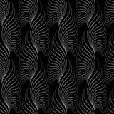 Naadloos abstract retro geometrisch patroon Gemengde krommen en lijnen in geometrische lay-out vector illustratie