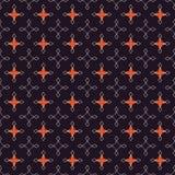 Naadloos abstract retro geometrisch patroon Gemengde rechthoeken en sterren in verticale en horizontale lay-out royalty-vrije illustratie