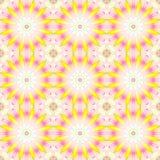 Naadloos abstract rond bloesems geel violet roze beige Stock Afbeelding