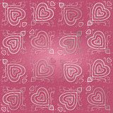 Naadloos Abstract Roze Vectorpatroon Stock Afbeeldingen