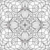 Naadloos Abstract Stammen zwart-Wit Patroon in Monolijnstijl Stock Foto's