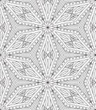 Naadloos Abstract Stammenpatroon Hand Getrokken Etnische Textuur Vec Stock Illustratie