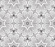 Naadloos Abstract Stammenpatroon Hand Getrokken Etnische Textuur Vec vector illustratie