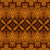 Naadloos Abstract Stammenpatroon (Vector) Stock Foto