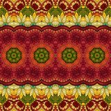 Naadloos Abstract Stammenpatroon (Vector) Royalty-vrije Stock Foto's
