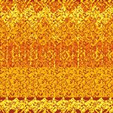Naadloos abstract vector gestreept geweven batik-als patroon in oranje tonen stock illustratie