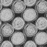 Naadloos abstract vectorgekrabbelpatroon stock illustratie